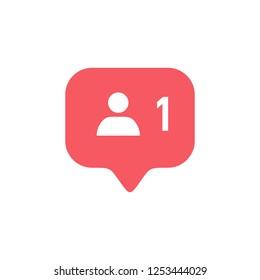 Notifications icon. Follower icon vector. social media Follower vector icon. user