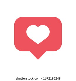Notifications vector like icon.  Social media like vector icon. Symbol for web site computer and mobile vector.