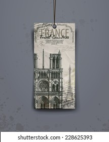 Notre Dame cathedral. vector illustration. vector format
