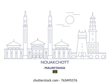 Nouakchott Linear City Skyline, Mauritania