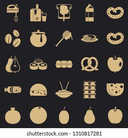 Nourishment icons set. Simple set of 25 nourishment vector icons for web for any design