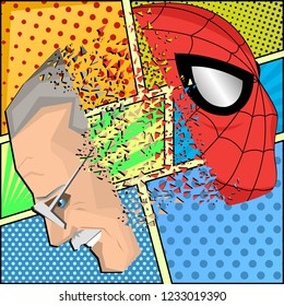 Nov, 2018: Tributes to Stan Lee. Stan Lee was an American comic book writer. On comics background. Vector.