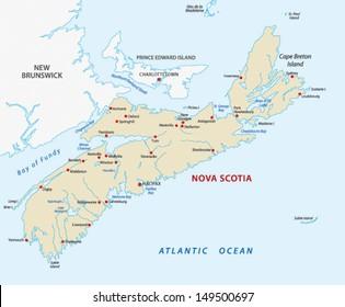 Nova Scotia map Canada