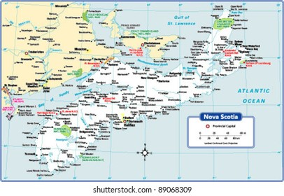 Nova Scotia Province Map
