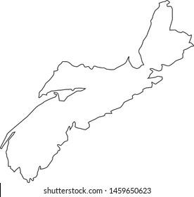 Nova Scotia state map in Canada