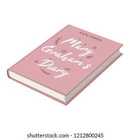 Novel book isolated on white background