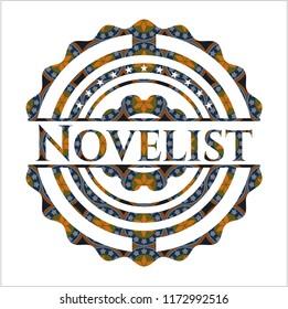 Novelist arabic emblem. Arabesque decoration.
