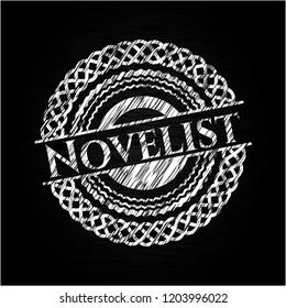 Novelist chalkboard emblem