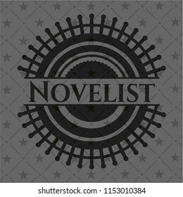 Novelist dark icon or emblem