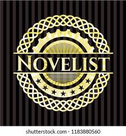 Novelist gold badge or emblem