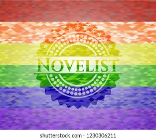 Novelist lgbt colors emblem