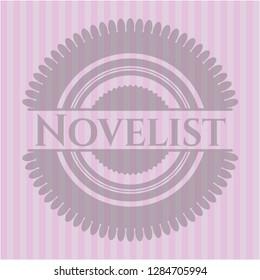 Novelist realistic pink emblem