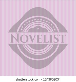 Novelist retro pink emblem