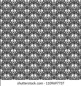 Novelty Pointelle Knit Mesh Seamless Vector Pattern