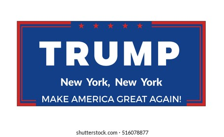November 14, 2016. Donald Trump political banner vector illustration