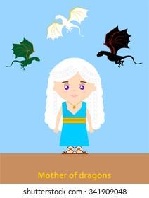 November 14.2015: Vector illustration of Daenerys Targaryen (Game of thrones)