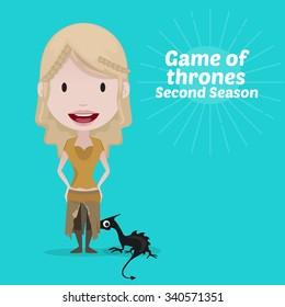 November 19, 2015: Vector illustration of Daenerys Targaryen (Game of thrones)