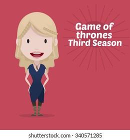 November 19.2015: Vector illustration of Daenerys Targaryen (Game of thrones)