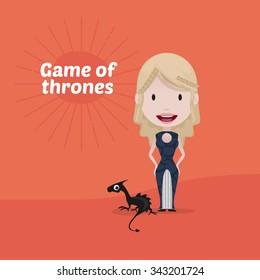 November 25, 2015: Vector illustration of Daenerys Targaryen (Game of thrones)