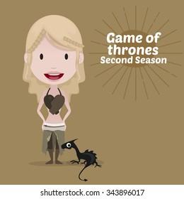 November 30, 2015: Vector illustration of Daenerys Targaryen (Game of thrones)