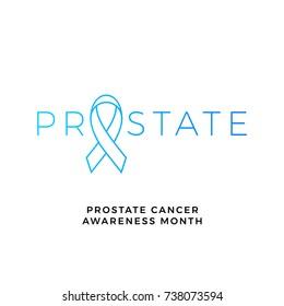 November campaign poster for men health prostate cancer awareness month of November solidarity event. Vector blue ribbon badge symbol for no shave awareness concept against man prostate cancer