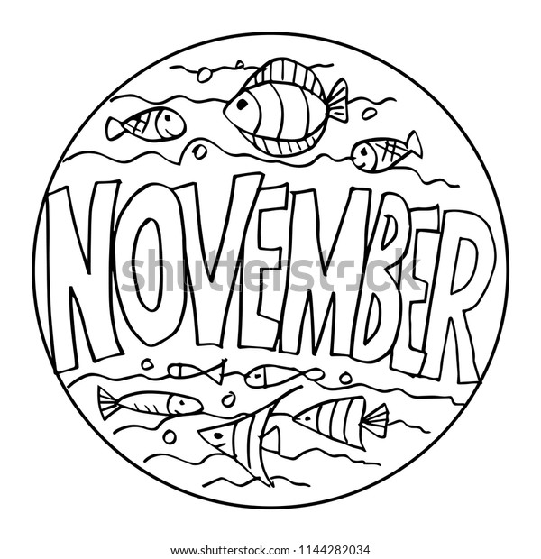 November Coloring Pages Kids Stock Image Download Now