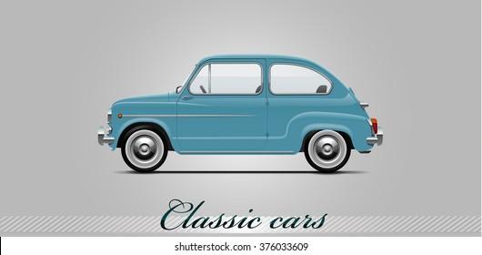 NOVI SAD, SERBIA - JANUARY 11, 2016: Vector illustration of Fiat 500  1957 - 1975,  eps10, vector, illustrative editorial - stock vector
