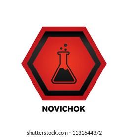 Novichock chemical nerve agent warning icon