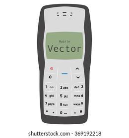 Novosibirsk, Russia - January, 2016: Nokia phone. Button. Flat. Vector graphics