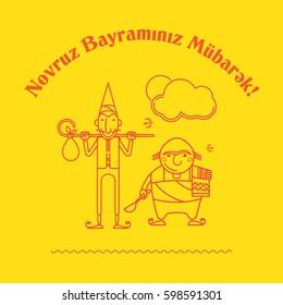 Novruz, Bayram, Charakters, Navruz, Bayrami, Nevruz, Navruz, Kosa, Kechel, Bahar