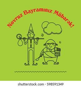 Novruz, Bayram, Charakters, Navruz, Bayrami, Nevruz, Navruz, Kosa, Kechel, Bahar, Semeni
