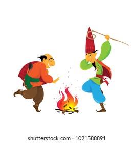 Novruz, Characters, Nevruz, Navruz, Novruz Bayrami, Kosa, Kechel, Bahar,