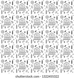 Novruz seamless pattern with sweets on white background