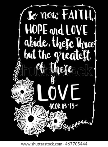 Now Faith Hope L Ove Abide These Stock Vector Royalty Free