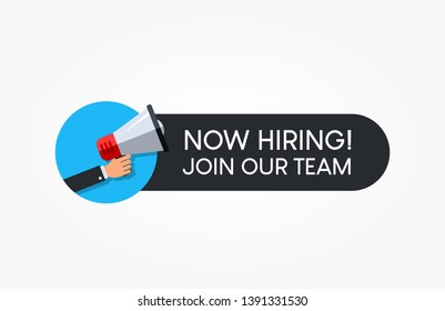 Now Hiring Join Our Team Megaphone Label