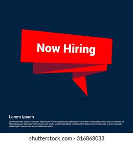 Now Hiring origami banner