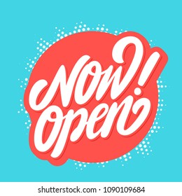 Now open banner. Vector lettering.