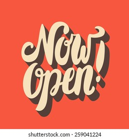 Now open sign.
