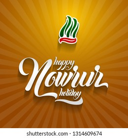 Nowruz greeting. Happy Nowruz holiday. Iranian new year