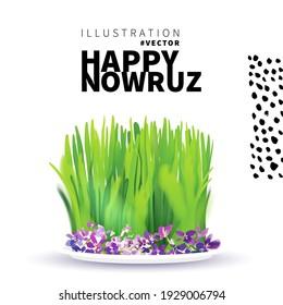 Nowruz holiday greeting card. Novruz bayram background template.
