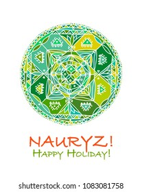 Nowruz holiday. Greeting card for your design