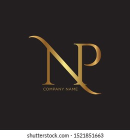 NP Gold Logo design template