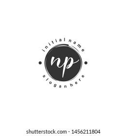 NP Initial beauty monogram logo vector