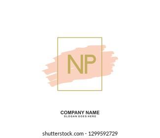 NP Initial letter geometric logo vector