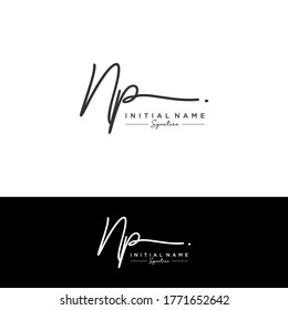 NP Initial letter handwriting and signature logo.