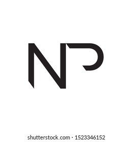 NP initial letter logo template vector icon design