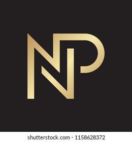 NP letter logo design