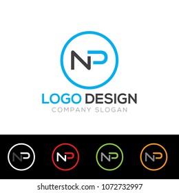 NP Letter Logo Design Template Vector EPS