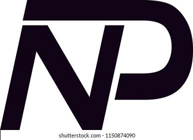 np letter vector logo