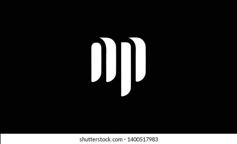 NP logo design template vector illustration minimal design